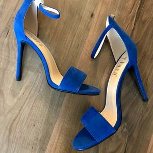 Royal Suede Sandal Heels